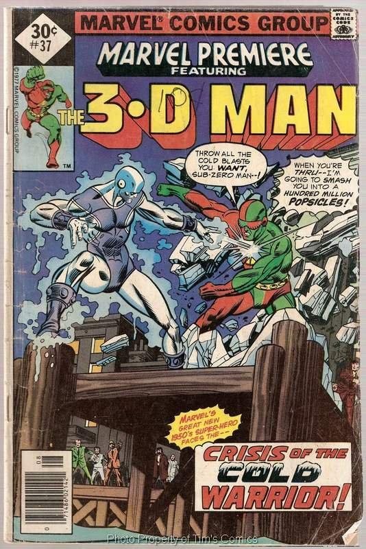 Marvel Premiere (1972 series) #37 3-D Man Marvel Comics Aug 1977 GD/VG