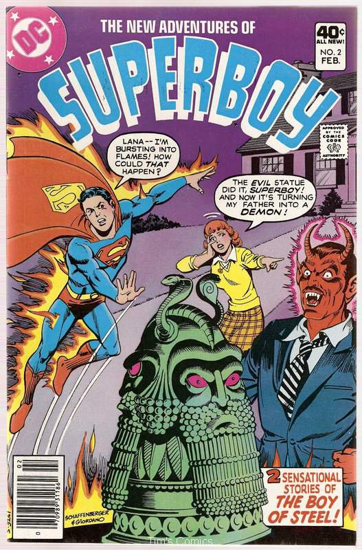 New Adventures of Superboy #2 DC Comics Feb 1980 FN