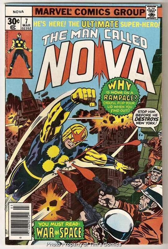 Nova (1976 series) #7 Marvel Comics March 1977 VG