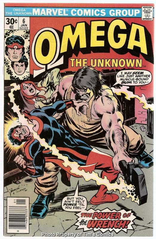 Omega the Unknown (1976 series) #6 Marvel Comics Jan. 1977 VF