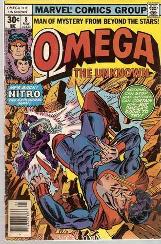 Omega the Unknown (1976 series) #8 Marvel Comics May 1977 GD