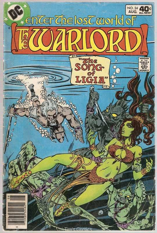 Warlord (1976 series) #24 DC Comics Aug 1979 Good