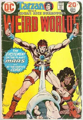Weird Worlds #7 John Carter Warlord of Mars DC Comics Oct 1973 FR