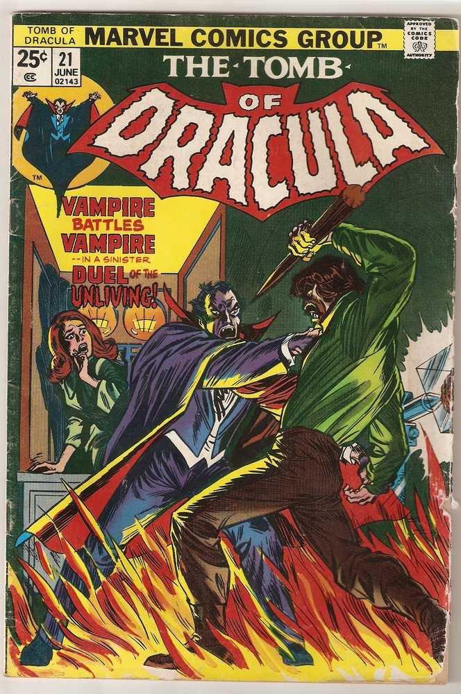 Tomb of Dracula (1972 series ) #21 Marvel Comics June 1974 FR