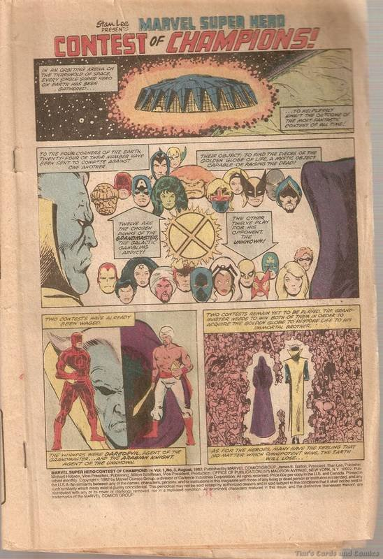 Contest of Champions (1982 series) #3 Marvel Comics Aug. 1982 Poor