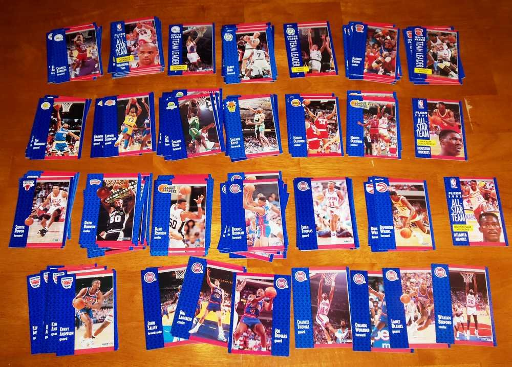1991-92 Fleer Basketball Lot of Over 175 Cards Stars Minor
