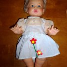 Vintage 1973 Rub A Dub Dolly Doll with Orange and White Dress