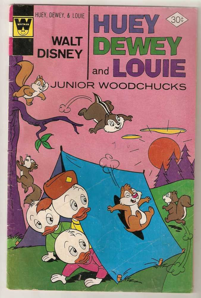 Huey Dewey and Louie Junior Woodchucks (Whitman) #43 April 1977 Walt Disney GD