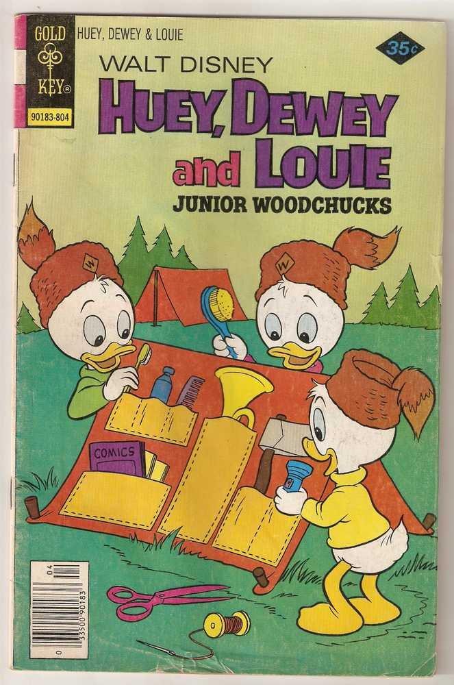 Huey Dewey and Louie Junior Woodchucks (Whitman) #49 April 1978 Walt Disney GD