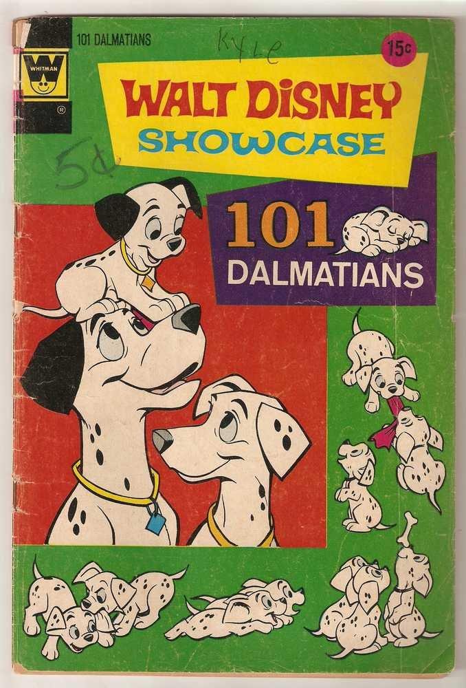 Walt Disney Showcase (1970 Whitman) #9 101 Dalmatians Aug. 1972 Walt Disney GD