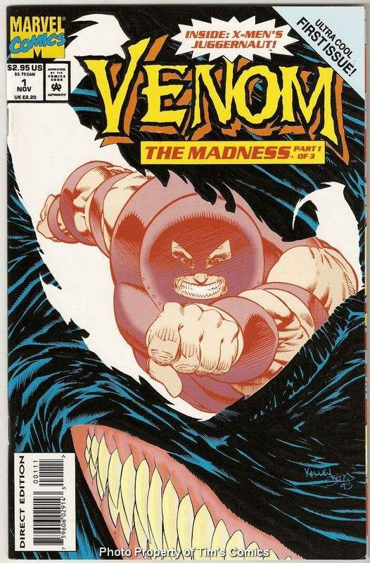 Venom the Madness #1 Marvel Comics Nov 1993 VG