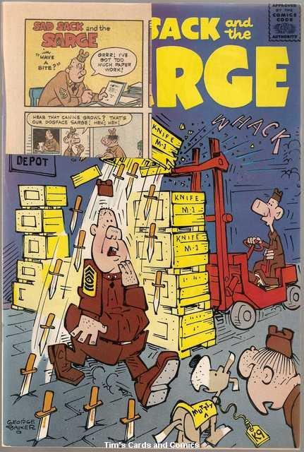 Sad Sack and the Sarge #56 Harvey Comics Aug 1966 FR