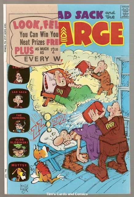 Sad Sack and the Sarge #107 Harvey Comics June 1974 FR