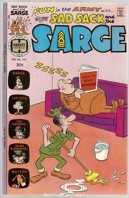Sad Sack and the Sarge #123 Harvey Comics Feb. 1977 FN