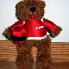 "Sugar Loaf Nascar Bear 9"" with Red Uniform"
