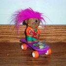 Skateboarding Rocker Troll Playing Guitar Pull Back Toy
