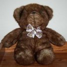"17"" Plush Stuffed Brown Teddy Bear with Bow Tie"
