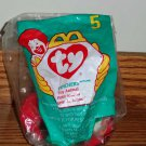 McDonald's 1998 Ty Teenie Beanie Babies #5 Pinchers the Lobster Happy Meal Toy in Original Packaging