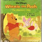 Winnie the Pooh Blustery Day Golden Tell-a-Tale Book 2456-54 Walt Disney