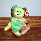 Ty Beanie Babies Peace the Tie-Dyed Bear NM with Tags