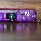 Purple 4 in1 LED Light Whistle Compass with Keychain