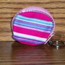 Girl's Pink white Blue Red Change Purse with Keychain