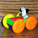 McDonald's 1998 101 Dalmatians Flip Car Dog in Green Box of Fruit Snake Happy Meal Toy Loose