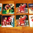Coca-Cola Christmas Coaster Lot of 8 Coke Santa Claus Loose