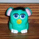 McDonald's Furbies Blue Green Furby with Black Hair Peek-A-Boo 1999 Happy Meal Toy Loose