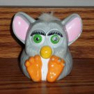 McDonald's Furbies Gray Furby with White Hair Squeaks 1999 Happy Meal Toy Loose Used A