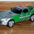 Toy State Road Rippers Skidders Dodge Viper Green and Silver Toy Car Used