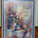 As For Me and My House We Will Serve the Lord Wooden Plaque Used