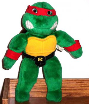 Raphael Teenage Mutant Ninja Turtles Plush Toy Playmates 1990 Used