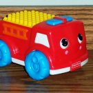 Fisher-Price K7375 Brilliant Basics Shake & Stack Firetruck Loose Truck Only Used