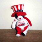 "New York Fire Department Patriotic Bear 9"" Stuffed Plush Toy J. Fan Used"
