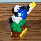 M&M Christmas Train Series 1 Car 4 Blue Loose Used