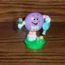 M&M Purple Easter Watering Flowers Topper 1995 Loose Used
