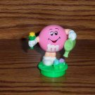 M&M Pink Easter Watering Flowers Topper 1995 Loose Used