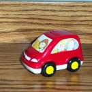 Fisher-Price Mcdonald&#39;s Little People Red Car 2005 Happy Meal Toy Mattel Loose