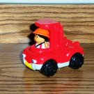 Fisher-Price McDonald&#39;s Little People Red Dump Truck No Bed 2004 Happy Meal Toy Mattel Loose