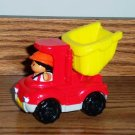 Fisher-Price McDonald's Little People Red Dump Truck 2004 Happy Meal Toy Mattel Loose