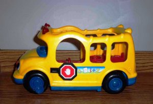 Fisher-Price Little People Lil' Movers School Bus No Figures Loose Used