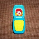 McDonald's Ronald McDonald Cell Phone 2009 U3 Happy Meal Toy Loose Used