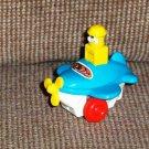 Tomy Miniature Push n Go Airplane Loose Used