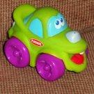 Playskool Wheel Pals Green Car with Purple Wheels Loose Used