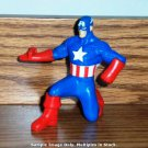 McDonald's 2010 Marvel Heroes Captain America Figure Happy Meal Toy Loose Used Incomplete