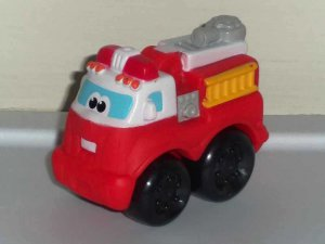 Playskool Tonka Boomer Chuck and Friends Wheel Pals Mini Red Fire Truck Loose Used