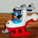 Fisher-Price Helicopter from Little People Discovery Airport and Pilot Loose Used