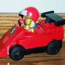 Fisher-Price Motorized Race Car and Driver from Little People Lil' Movers Race Track Loose Used