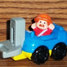 Fisher-Price McDonald's Little People Blue and Yellow Fork Lift U3 Happy Meal Toy Mattel Loose Used